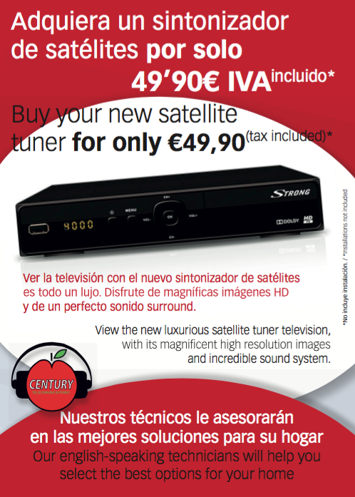 Buy your new satellite tuner for only €49,90