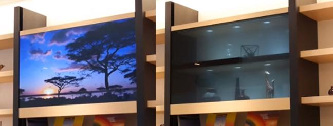 Televisor transparente